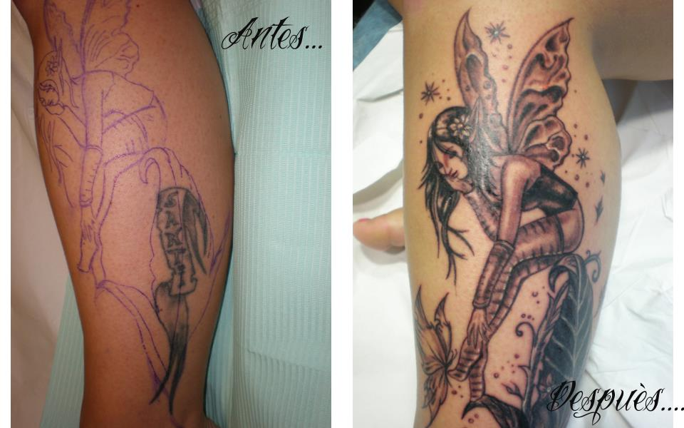 Tatuajes Para Tapar Otro Tatuaje cover tatuaje en pierna para cubrir otro | gattoostudio