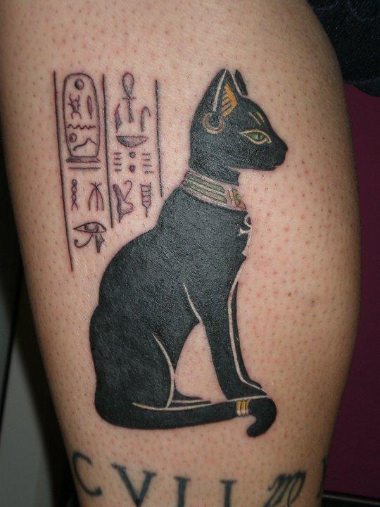 Egyptian Bastet Tattoo
