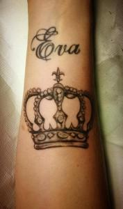 nombre y corona